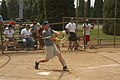 US Navy 060611-N-7783B-002 USS Preble (DDG 88) Commanding Officer, Cmdr. Kevin Hill, delivers a key hit during a softball game.jpg
