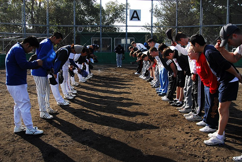 File:US Navy 070212-N-6936D-024 Sailors assigned to rescue and salvage ship USS Safeguard (ARS 50) participate in a game of softball with a local Kagoshima softball team.jpg