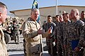 US Navy 081222-N-0000X-142 Chief of Naval Operations Adm. Gary Roughead speaks to the Sailors and Soldiers of Provincial Reconstruction Team (PRT) Khost.jpg