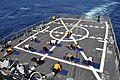 US Navy 090424-N-4124C-002 Physical training is held on the flight deck of the guided-missile destroyer USS Forrest Sherman (DDG 98) during UNITAS Gold.jpg