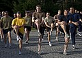 US Navy 100608-N-7526R-010 Master Chief Petty Officer of the Navy Rick West warms up for a run with members of (NSWU) 2 during a visit to United States Army Garrison Stuttgart.jpg