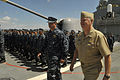 US Navy 100609-N-8273J-034 Chief of Naval Operations (CNO) Adm. Gary Roughead visits with Sailors aboard the Arleigh Burke-class Destroyer USS Hopper (DDG 70) at Joint Base Pearl Harbor-Hickam.jpg