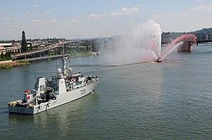 HMCS Whitehorse - Whitehorse arriving in Portland, Oregon during 2011