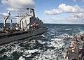 US Navy 111019-N-ZZ999-110 The Military Sealift Command fleet replenishment oiler USNS Kanawha (T-AO 196) conducts a replenishment at sea with the.jpg
