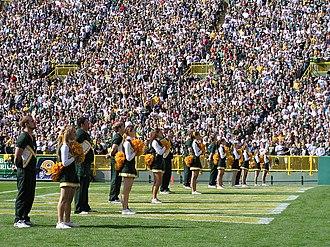 Green Bay Packers cheerleaders - Image: UWGB Packers Cheerleaders '06 '07