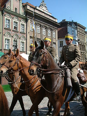 3rd Silesian Uhlan Regiment - Reenactors wearing the uniform of Silesian Uhlans