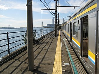 Umi-Shibaura Station - Image: Umishibaura Station Platform