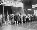Unemployed men queued outside a depression soup kitchen opened in Chicago by Al Capone, 02-1931 - NARA - 541927 (cropped).jpg