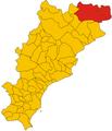 Unione dei comuni del Beigua-mappa.png