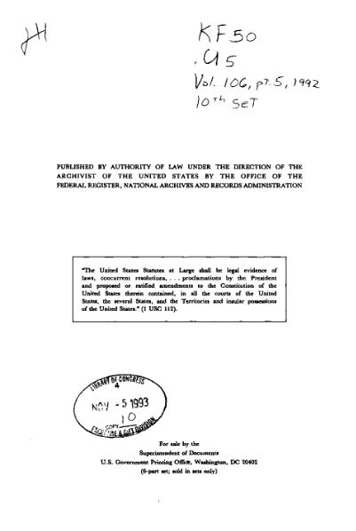 File:United States Statutes at Large Volume 106 Part 5.djvu
