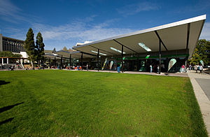 University of Waikato - The village green is the social hub of the University of Waikato's Hamilton campus.