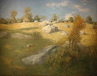 "Upland pasture - J. Alden Weir 1905 painting ""Upland Pasture"""