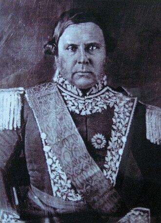 Platine War - Justo José Urquiza, governor of Entre Rios.