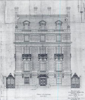 Embassy of Uzbekistan, Washington, D.C. - Drawing designs by de Sibour of the Clarence Moore House