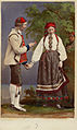 Världsutställningen i Paris 1867. Man och kvinna i dräkter från Telemarken, Norge - Nordiska Museet - NMA.0039949.jpg