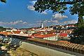 Výhled na město od baziliky, Třebíč.jpg