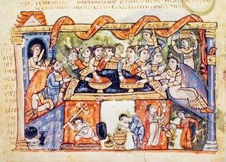 Book of Job in Byzantine illuminated manuscripts - Image: VAT749fol 16v