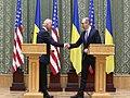 VP Biden and PM Yatsenyuk, Joint Statement, Kyiv, Ukriane, April 22, 2014 (13977913562).jpg