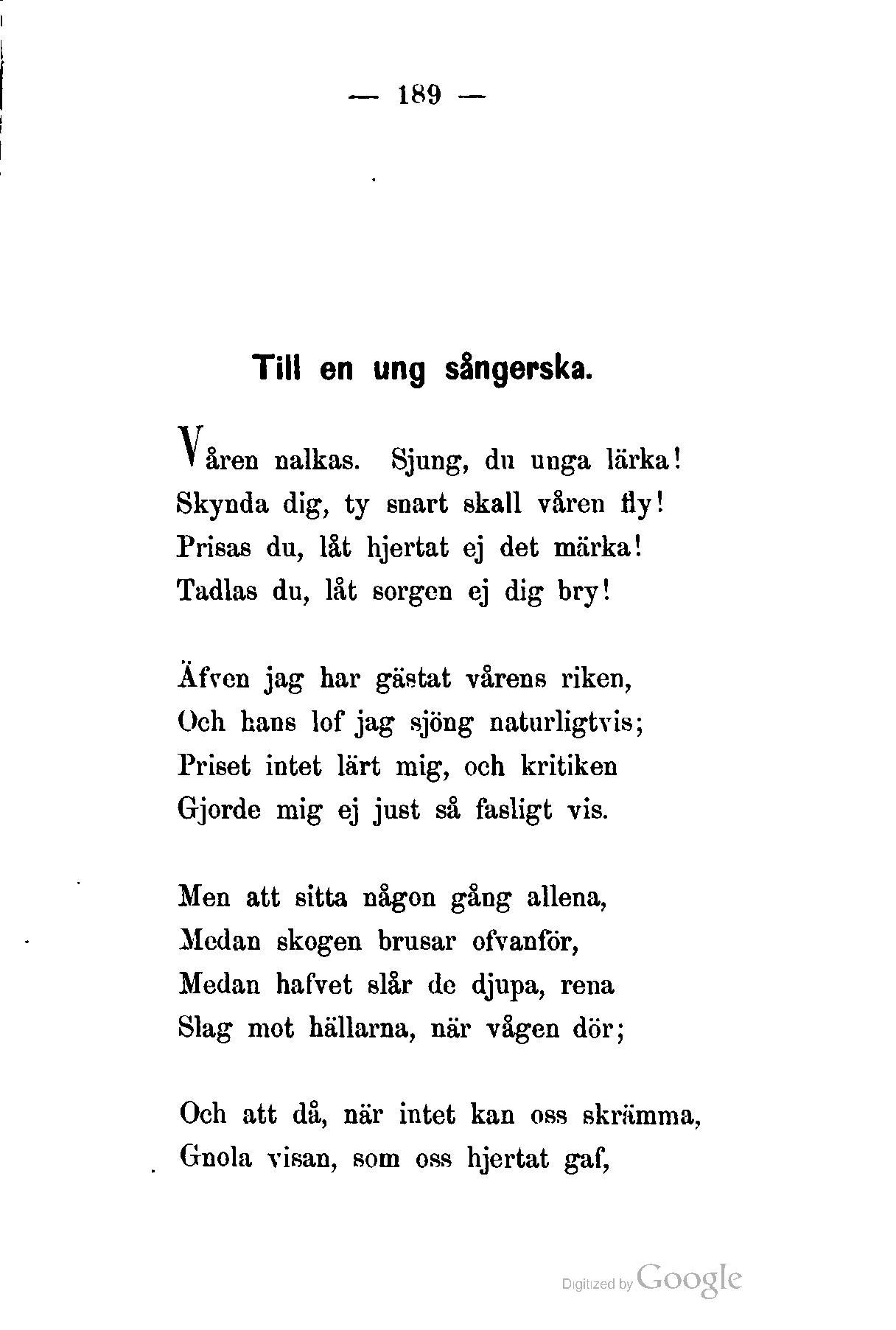när någon dött dikt