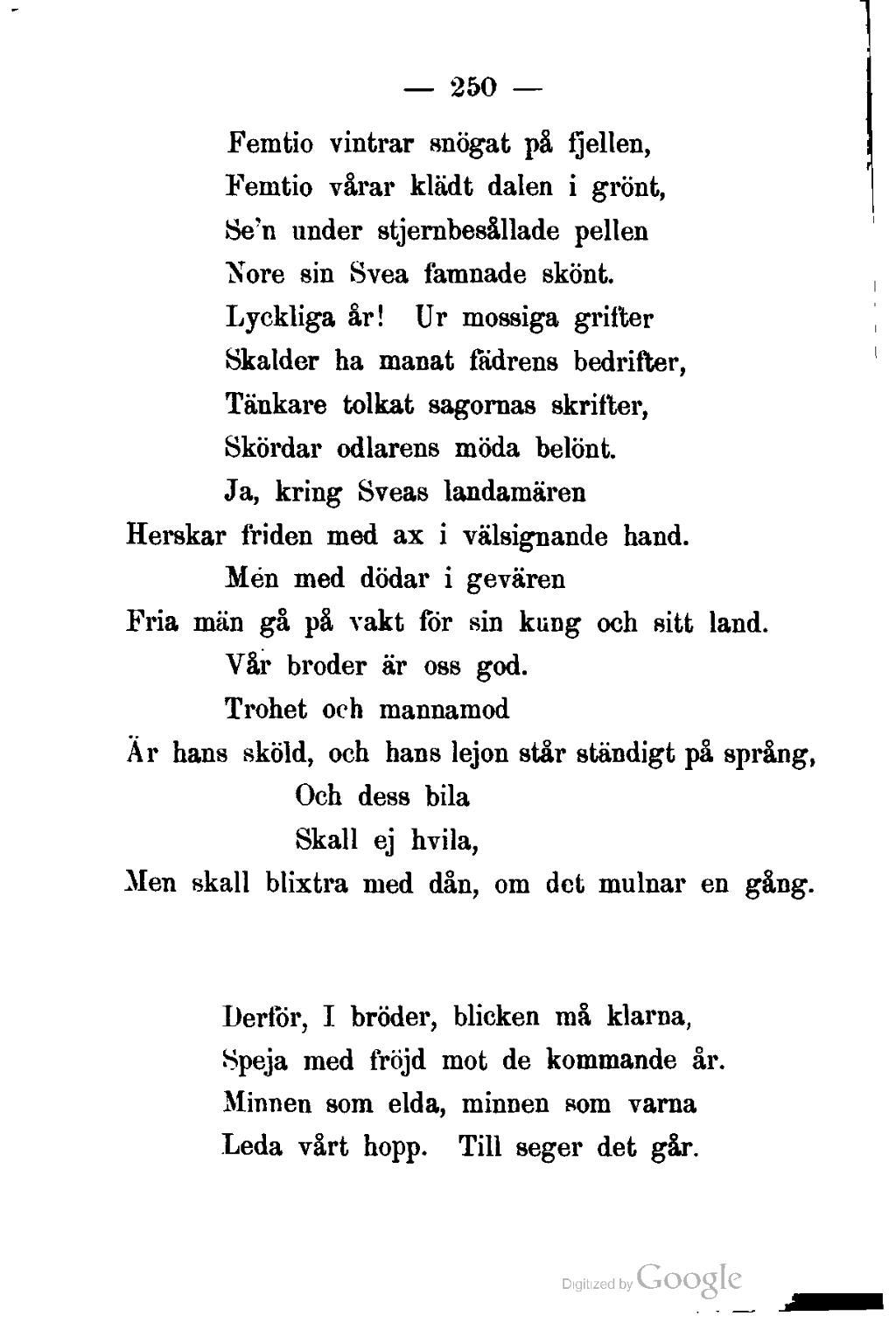 till minne av dikt
