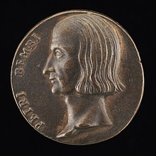 Proper left profile of Bembo, as a medal in bronze, 3.45 cm., ca. 1523, by Valerio Belli, National Gallery of Art in Washington.