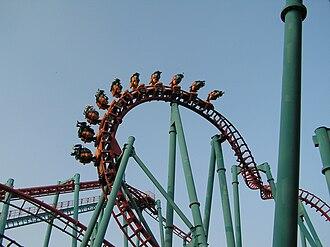 "Walibi Belgium - The ""Vampire"" suspended rollercoaster at Walibi Belgium"