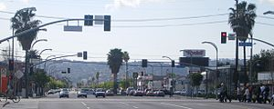 Van Nuys Boulevard - Van Nuys Boulevard at the Metro Orange Line crossing