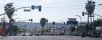 Van Nuys Boulevard - Van Nuys Boulevard at the Metro Orange Line crossing