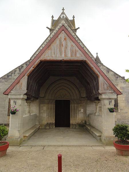 Vasseny (Aisne) église Saint-Rupert et Saint-Druon porche