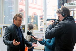 Vebjørn Selbekk @ I am Charlie Cartoon Festival in Norway - Photo by Persian Dutch Network (2015).JPG