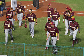 Venezuela national baseball team on November 7, 2015.jpg