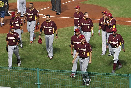 Venezuela national baseball team in 2015 Venezuela national baseball team on November 7, 2015.jpg