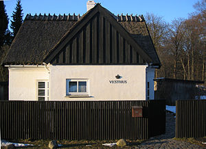 Jægersborg Dyrehave - The Vesthus (West House) gatehouse