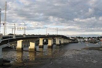 Massachusetts Route 1A - Veterans Memorial Bridge entering Beverly