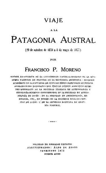 File:Viaje a la Patagonia Austral - Francisco P. Moreno.pdf
