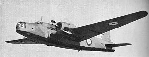 Wellington bomber similar to one flown by 142 Sqn