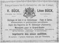 Victor Bück, Advertisement 1895.png