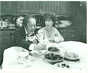 Victor Wong (actor born 1927) - Wong with Laureen Chew in Dim Sum: A Little Bit of Heart.