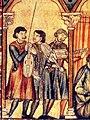Vielles and Citole, Manuscript T (El Escorial, Biblioteca del Real Monasterio, MS. T. I. 1), fol. 5r, detail.jpg