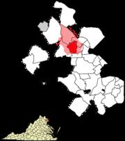 Vienna postal area and city limits