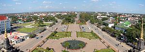 Patuxai - View of the city from Patuxai