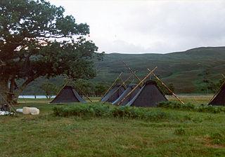 Kohte tent used in Germany