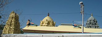 Kumarakottam Temple - Side view of the Kumarakottam Temple