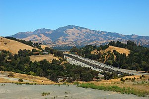 Mount Diablo - West face of Mount Diablo and Hwy 24