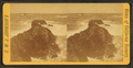 View of sea with rock formation, by Johnson, C .W. J. (Charles Wallace Jacob), 1833-1903.png