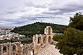 View of the Philopappos Hill from the Odeon of Herodes Atticus.jpg