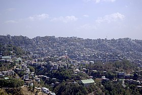 View of the ridgetop city of Aizawl, state capital of Mizoram.jpg