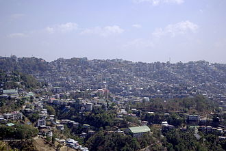 Mizoram - The capital city of Aizawl.