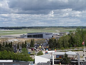 View to Billund Airport from the Lego Top in Legoland Billund 2012.JPG