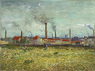 Asnières (Van Gogh series) - Factories at Asnières Seen from the Quai de Clichy Summer, 1887 The Saint Louis Art Museum, St. Louis (F317)
